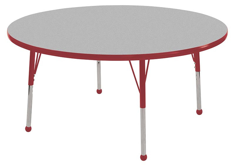 ECR4Kids ELR-14124-GRD-SB 60 Round Table Grey/Red-Standard Ball