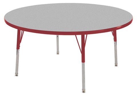 "ECR4Kids ELR-14124-GRD-SS 60"" Round Table Grey/Red-Standard Swivel - Peazz Toys"