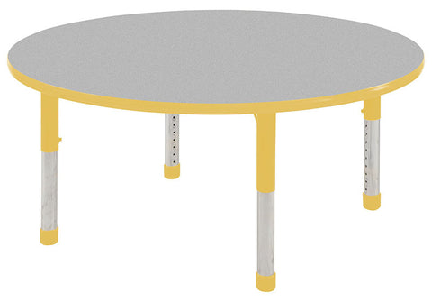 "ECR4Kids ELR-14124-GYE-C 60"" Round Table Grey/Yellow-Chunky - Peazz Toys"