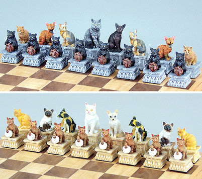 Fame 0034 Cats Chess Set Pieces