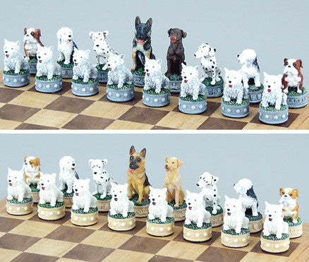 Fame 0033 Dogs Chess Set Pieces