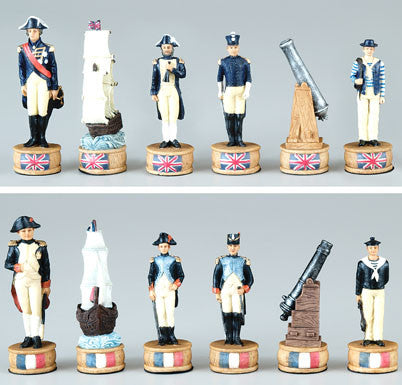 Fame 7215 British and French Chess Set Pieces