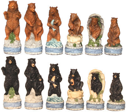 Fame 7368 Bears Chess Set Pieces