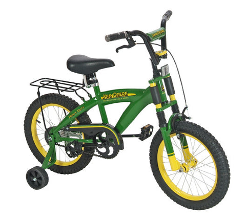 "John Deere 35016 Heavy Duty 16"" Bicycle with Adjustable Training Wheels - Peazz Toys"