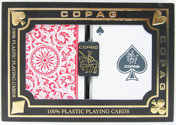 Copag 1546 Playing Cards Red/Blue Poker Size Regular Index