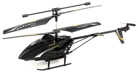 JP Commerce LT-712-BLACK 3.5ch Hawkspy LT-712 RC Helicopter with Gyro and Camera - Black - Peazz Toys