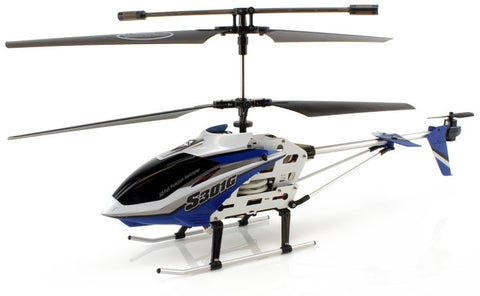 JP Commerce S301G-BLUE 3.5ch Syma S301G Large Size RC Helicopter with Gyro - Blue - Peazz Toys