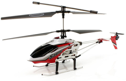 JP Commerce S301G-RED 3.5ch Syma S301G Large Size RC Helicopter with Gyro - Red - Peazz Toys