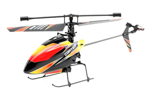 JP Commerce V911-BLACK 2.4Ghz 4ch WL V911 Single Rotor Fixed Pitch Mini RC Helicopter - Black - Peazz Toys