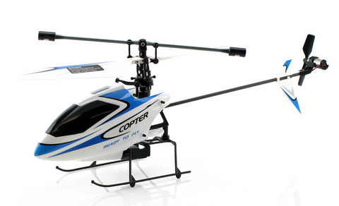 JP Commerce V911-BLUE 2.4Ghz 4ch WL V911 Single Rotor Fixed Pitch Mini RC Helicopter - Blue - Peazz Toys