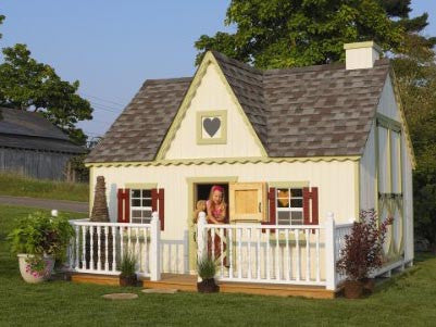 10 x 12 Victorian Playhouse -  Panelized Kit - Peazz Toys