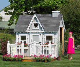 4 x 6 Victorian Playhouse - Panelized Kit - Peazz Toys