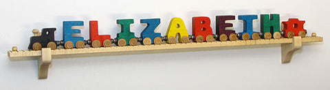 Maple Landmark 10931 NameTrain Wall Mount Set w/11 Cars - Peazz Toys