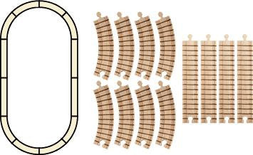 Maple Landmark 11120 Track, Oval Set - Peazz Toys