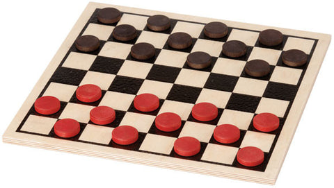 Maple Landmark 50322 Checkers, Basic Set - Peazz Toys
