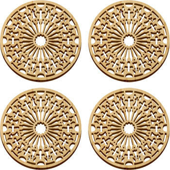 Maple Landmark 66205 Solace Coasters, 4 Pc, Cathedral - Peazz Toys