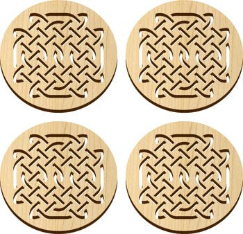 Maple Landmark 66206 Solace Coasters, 4 Pc, Celtic - Peazz Toys