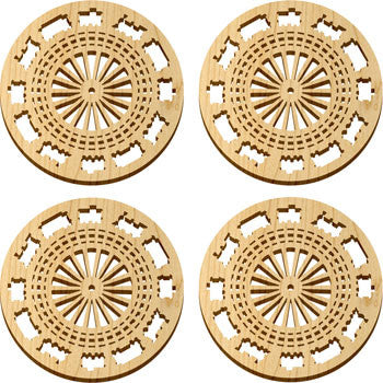 Maple Landmark 66230 Solace Coasters, 4 Pc, Railway - Peazz Toys