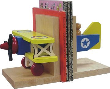 Maple Landmark 70214 Bookends, Biplane - Peazz Toys