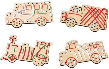 Maple Landmark 73015 Vehicle Lace-A-Shapes - Peazz Toys
