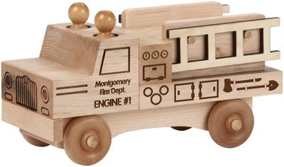 Maple Landmark 76210 Natural Classic, Fire Truck - Peazz Toys