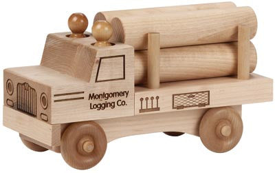 Maple Landmark 76215 Natural Classic, Log Truck - Peazz Toys
