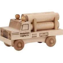 Maple Landmark 76216 Unfinished Classic, Log Truck - Peazz Toys