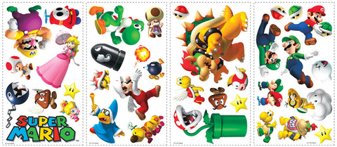 Nintendo - Super Mario Peel & Stick Wall Decals (675SCS) - Peazz Toys