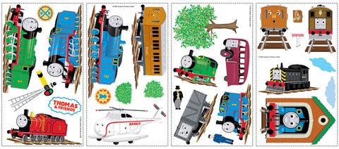 Thomas & Friends Peel & Stick Wall Decals (RMK1035SCS) - Peazz Toys