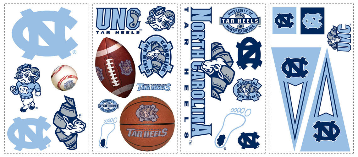 University of North Carolina Peel & Stick Wall Decals (RMK1067SCS)