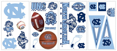 University of North Carolina Peel & Stick Wall Decals (RMK1067SCS) - Peazz Toys
