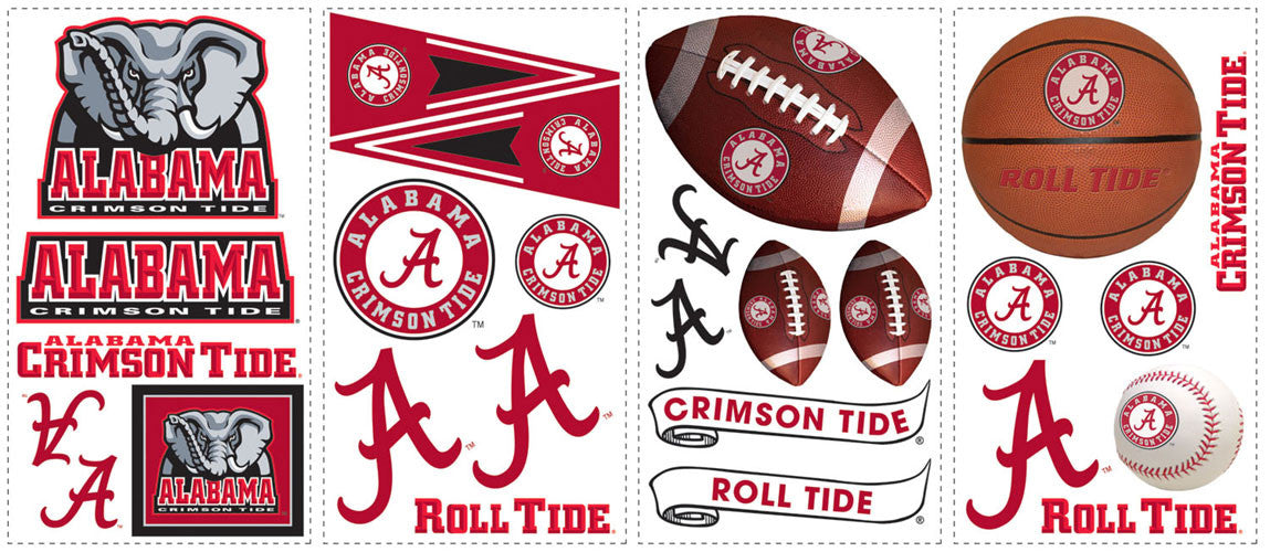 University of Alabama Peel & Stick Wall Decals                                                  (RMK1099SCS)