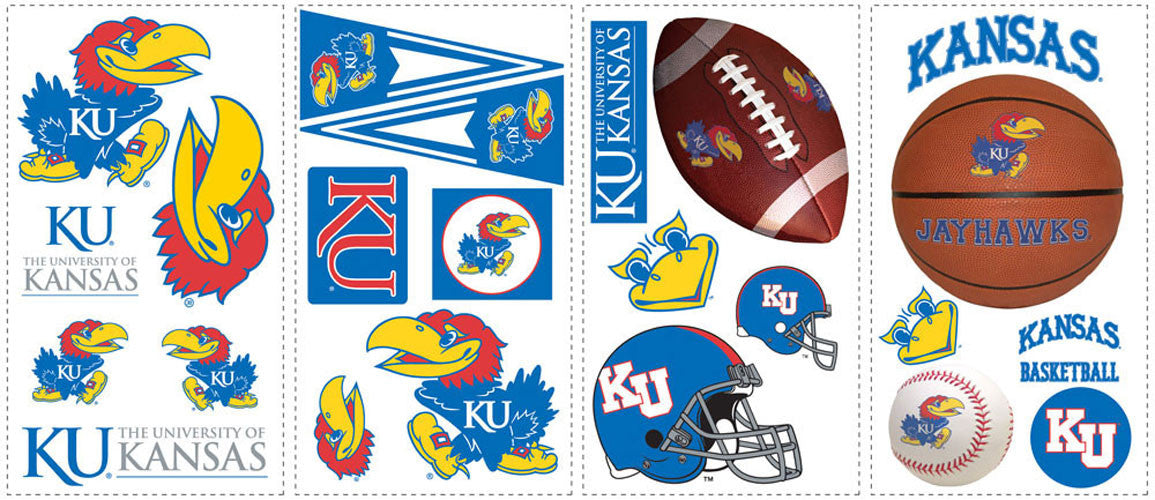 University of Kansas Peel & Stick Wall Decals                                                     (RMK1100SCS)