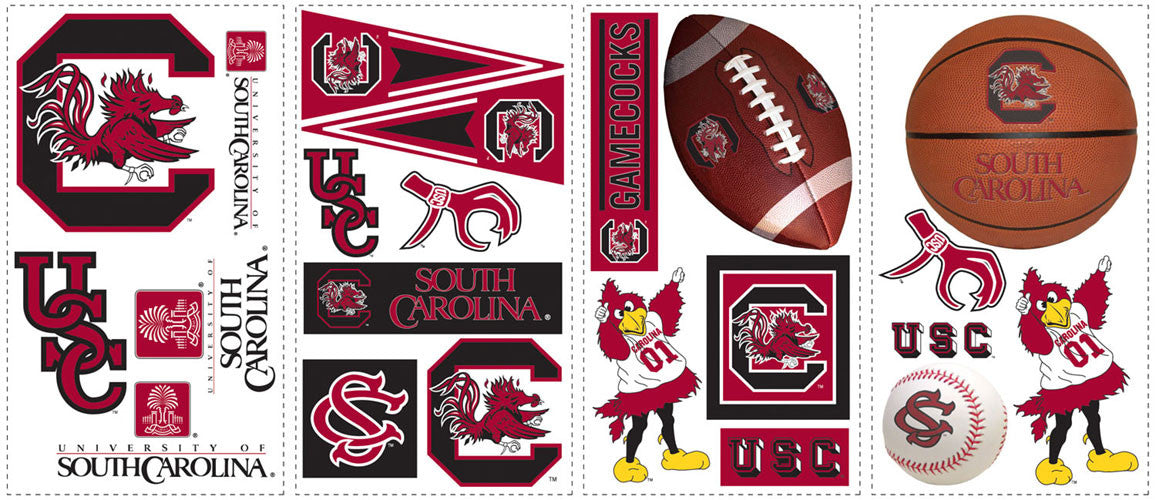 University of South Carolina Peel & Stick Wall Decals                                       (RMK1102SCS)