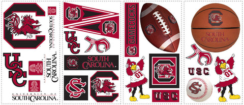 University of South Carolina Peel & Stick Wall Decals                                       (RMK1102SCS) - Peazz Toys