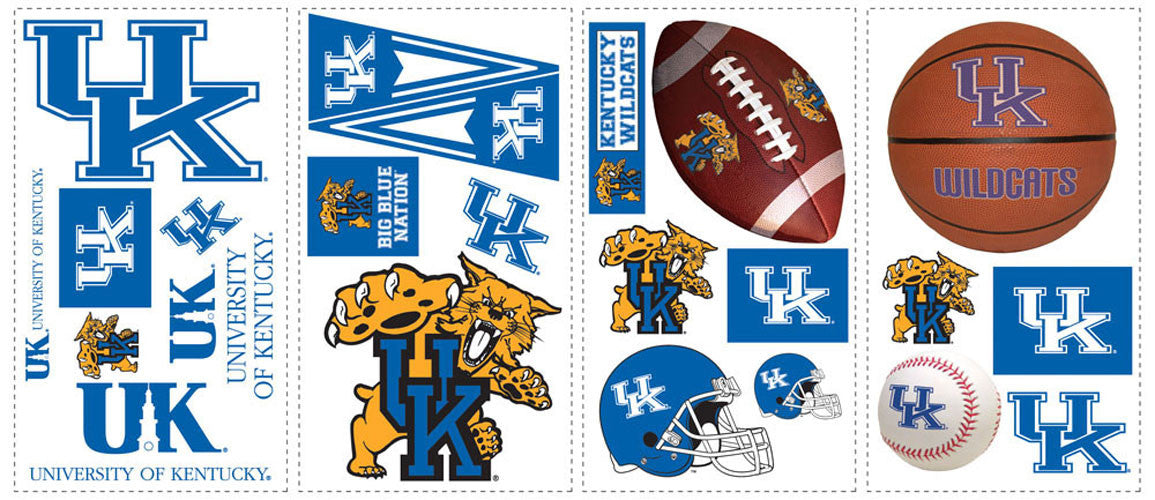 University of Kentucky Peel & Stick Wall Decals                                   (RMK1105SCS)