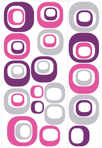Modern Ovals Peel & Stick Wall Decals (RMK1343GM)