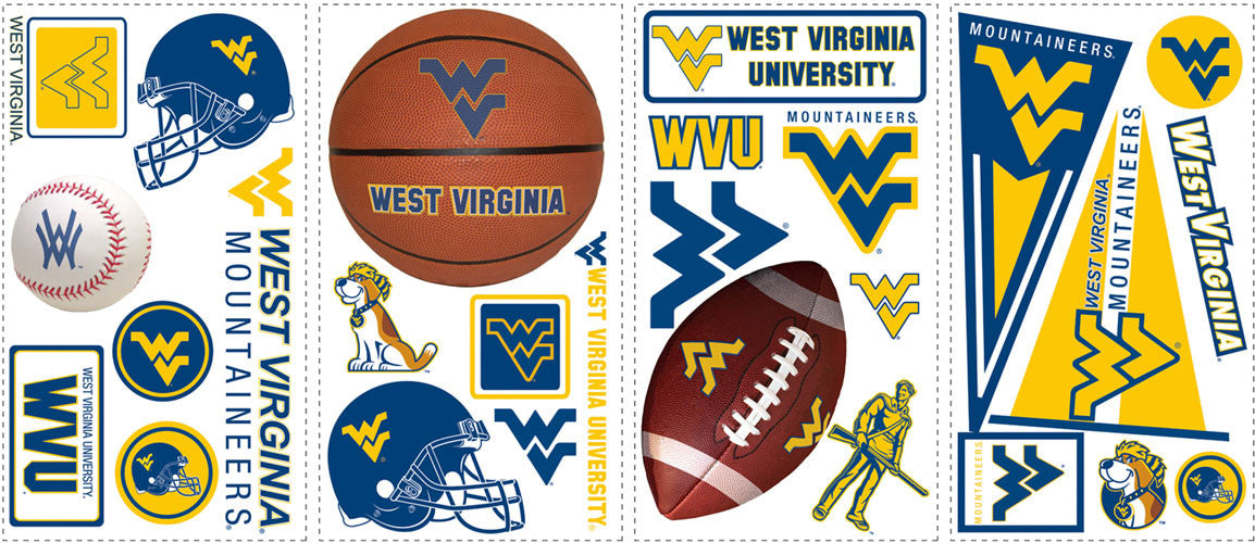 West Virginia University Peel & Stick Wall Decals  (RMK1372SCS)