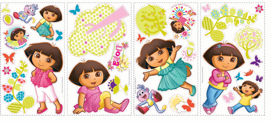 Dora the Explorer Peel & Stick Wall Decals  (RMK1378SCS)