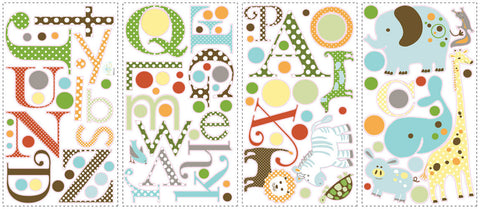 Animal Alphabet Peel & Stick Wall Decals (RMK1440SCS) - Peazz Toys