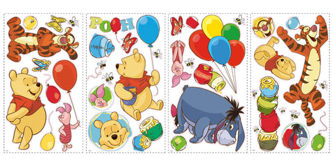 Winnie the Pooh - Pooh & Friends Peel & Stick Wall Decal (RMK1498SCS) - Peazz Toys