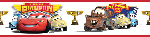 Cars - Piston Cup Champion Peel & Stick Border (RMK1517BCS) - Peazz Toys