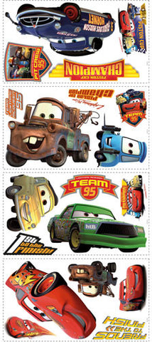 Cars - Piston Cup Champs Peel & Stick Wall Decal (RMK1520SCS) - Peazz Toys