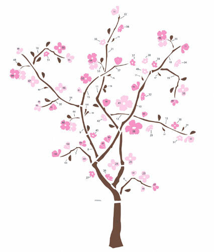 Spring Blossom Peel & Stick Giant Wall Decal (RMK1555GM)