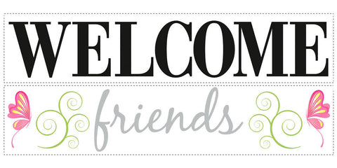 Welcome Friends Peel & Stick Wall Decals (RMK1558SCS) - Peazz Toys