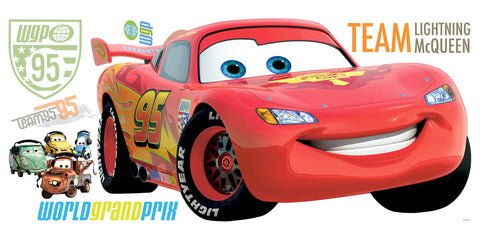 Cars 2 Peel & Stick Giant Wall Decal (RMK1582GM) - Peazz Toys