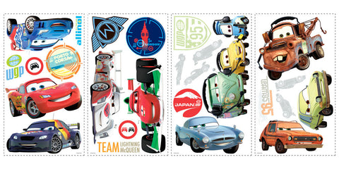 Cars 2 Peel & Stick Wall Decals (RMK1583SCS) - Peazz Toys