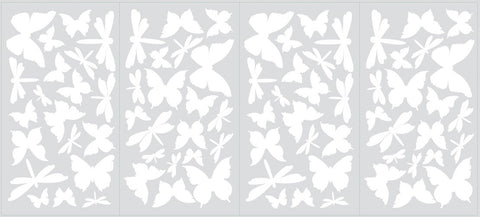 Butterfly & Dragonfly Glow in the Dark Wall Decals (RMK1706SCS) - Peazz Toys