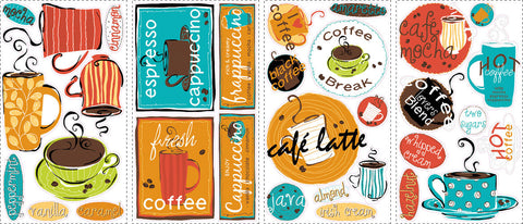 Café Peel & Stick Wall Decals (RMK1740SCS) - Peazz Toys