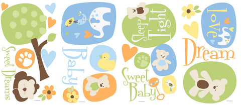 Modern Baby Peel & Stick Wall Decals (RMK1777SCS) - Peazz Toys